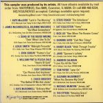 Waterbug Records: 1996, The Waterbug Anthology, jacket back scan