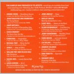 Waterbug Records: 2004, Waterbug Anthology 7, jacket back scan
