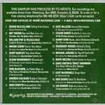 Waterbug Records: 1999, Independent Artists Sampler '99, jacket back scan