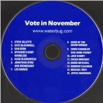 Waterbug Records: 2004, Vote in November: Election 2004: Anti-Theft Device, CD disc scan
