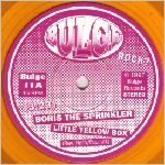 Bulge Records, variety #1, yellow vinyl, 45 w/LP small hole label scan