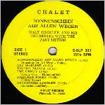 Chalet Records, LP label scan