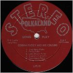 Polkaland Records, variety #6, LP label scan