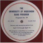 UW-Madison Records, variety #2, 16 in. Transcription Disk label scan