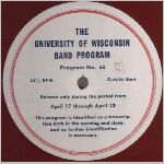 UW-Madison Records, variety #3, 16 in. Transcription Disk label scan