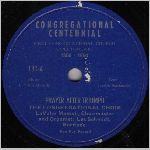 First Congregational Church Choir  self release?, unknown label name, LP label scan