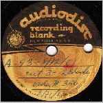 Audiodisc Recording Blank, Side A, 10 in. LP label scan