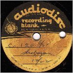 Audiodisc Recording Blank, Side B, 10 in. LP label scan