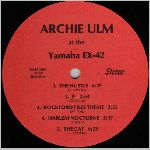 Archie Ulm  self release?, unknown label name, LP label scan
