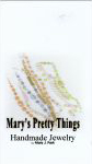 Mary's Pretty Things necklace & earring display card scan