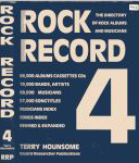 #8u -- Hounsome <b>no page numbers!</b> Rock Record 4: The Directory of Rock Albums and Musicians, 4th ed., 1991 (spine & front cover)