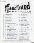 #ji -- Jim Oldsberg Lost and Found #2, 1993 (Table of Contents)