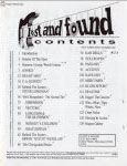 #jj -- Jim Oldsberg Lost and Found #3, 1994 (Table of Contents)
