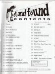 #jl -- Jim Oldsberg Lost and Found #5, 1997 (Table of Contents)