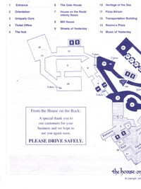 House on the Rock 2003 Tour Map Part A
