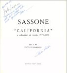 #9a03 -- Barton, 1973,  Sassone: California: a Collection of Works, 1970-1973 (title page)