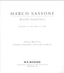 #9f03 -- MB Modern (art gallery) (Porges and Hoopes), 2000,  Marco Sassone: Recent Paintings (title page)