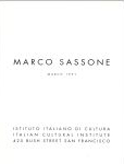 #9g03 -- Italian Cultural Institute, 1991,  Marco Sassone: March 1991 (title page)