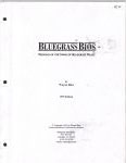 #jw2 -- Rice Bluegrass Bios: Profiles of the Stars of Bluegrass Music (title page)