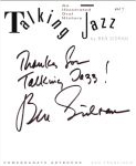 #my -- Sidran, Ben Talking Jazz: An Illustrated Oral History (title page)