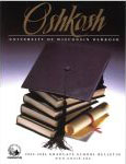 UW Oshkosh 2002-2004 Graduate School Bulletin cover