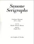#9c05 -- Barton and Reeve, 1984,  Sassone Serigraphs: Catalogue Raisonne 1975-1984 (title page)